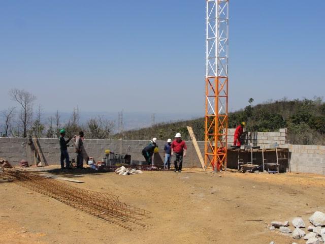 Construção da Torre da Rádio Alternativa na cidade de João Monlevade